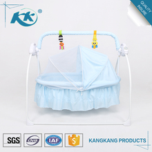 Good manufacturers wholesale multi-functional electric automatic bassinet cot bedding custom made swinging portable baby crib