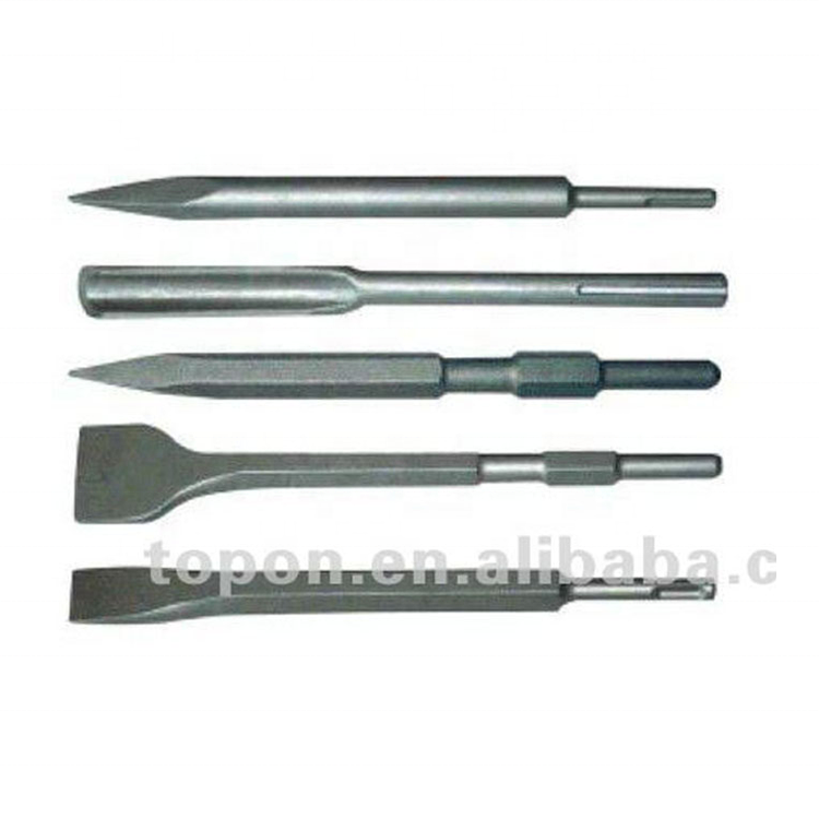 40Cr steel sand-blast point/flat/spade/gauge stone chisels for marble,stone and concrete