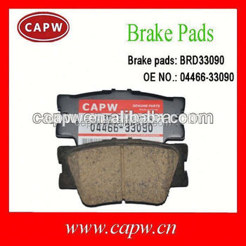brake pad rear auto parts for toyota camry 04466 33090 buy brake pad rear auto parts for. Black Bedroom Furniture Sets. Home Design Ideas