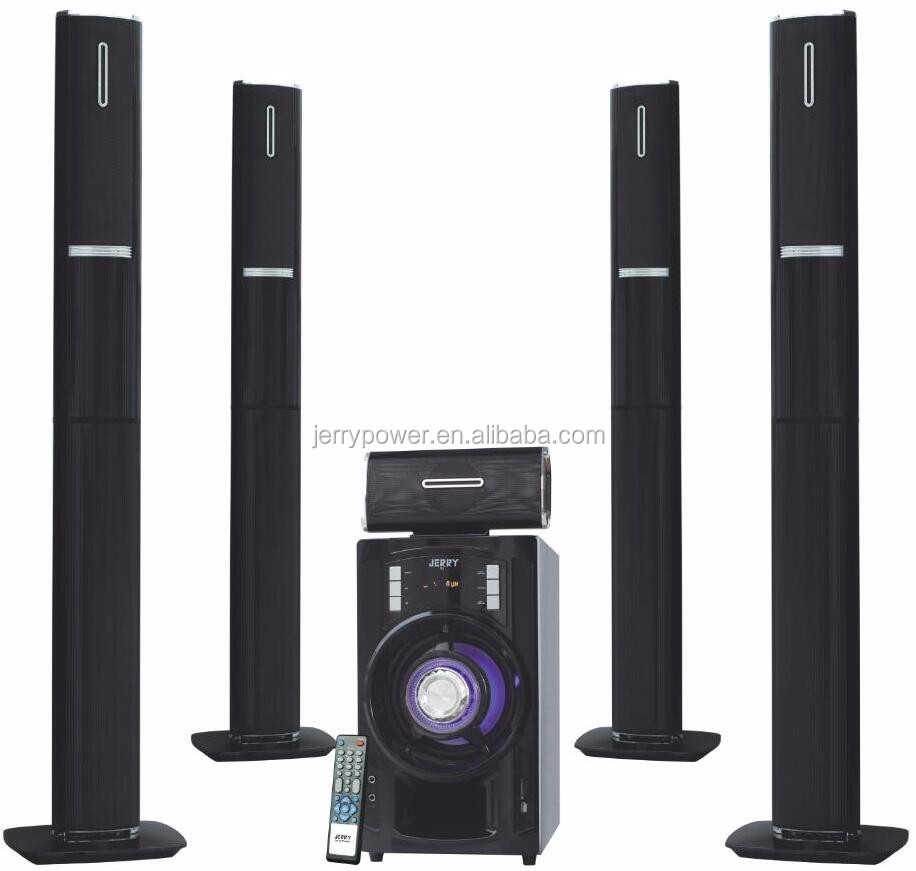 5.1 Ch Ahuja Wireless Mic Surround System With Led Light Speakers ...