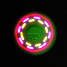 Cheapest Private Mould Aluminum Light Spinner Toy Adult Fidget Toys Flashing Led Hand Spinner
