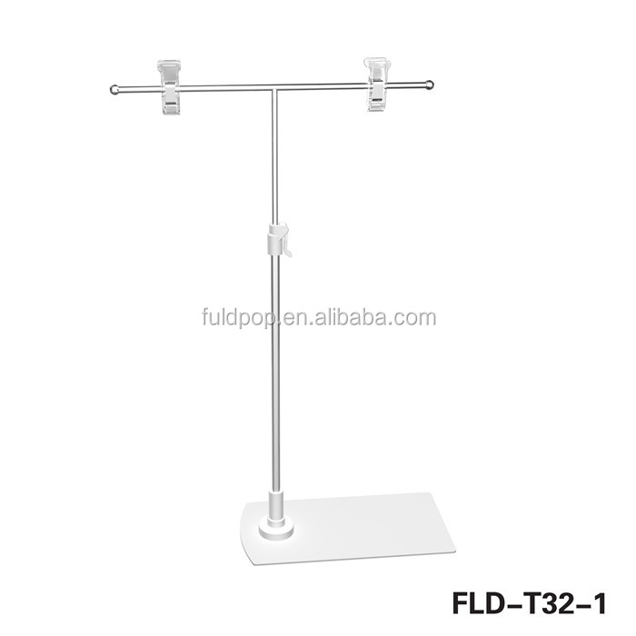 T shape table pop stand/sign holder/pop display stand pop display,sign holder