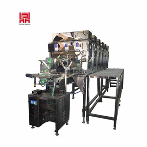 High efficient rice/grain/bean bag mixing packing machine for six materials