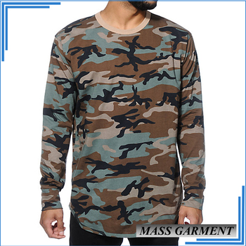 5e94932e Custom Hip Hop Tee Men's Hi-street Wear Long Sleeves Camo T Shirts ...