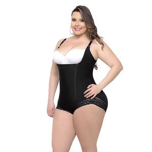 8eb21a623d0ad European Women Body Shaper Butt Lifter Shapewear Zip Bodysuit Plus Size