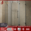 Glass tempered sliding glass shower enclosure door hardware for bathroom