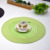 FashionWaterproof PP Round Tablemat for restaurant