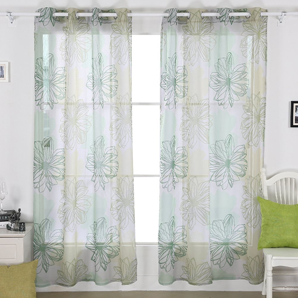 grey silver voile elegance scarf curtains sheer panel curtain panels