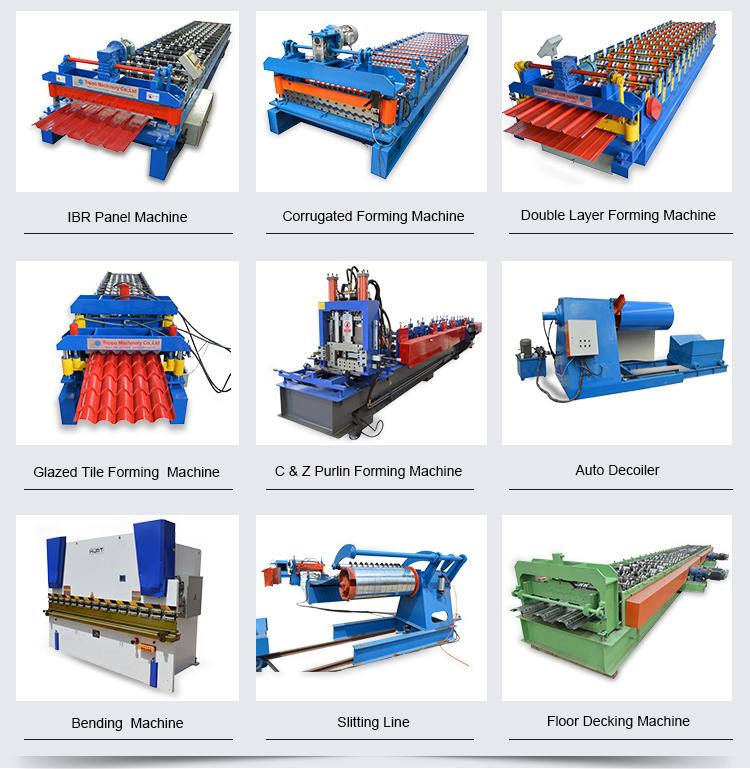 Metalen Dakplaat Corrugating Iron Sheet Roll Forming Machine Maken, koude Verzinken Lijn