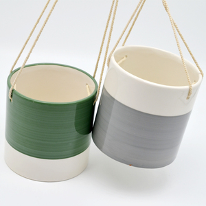 Modern custom indoor mini hanging flower pot ceramic