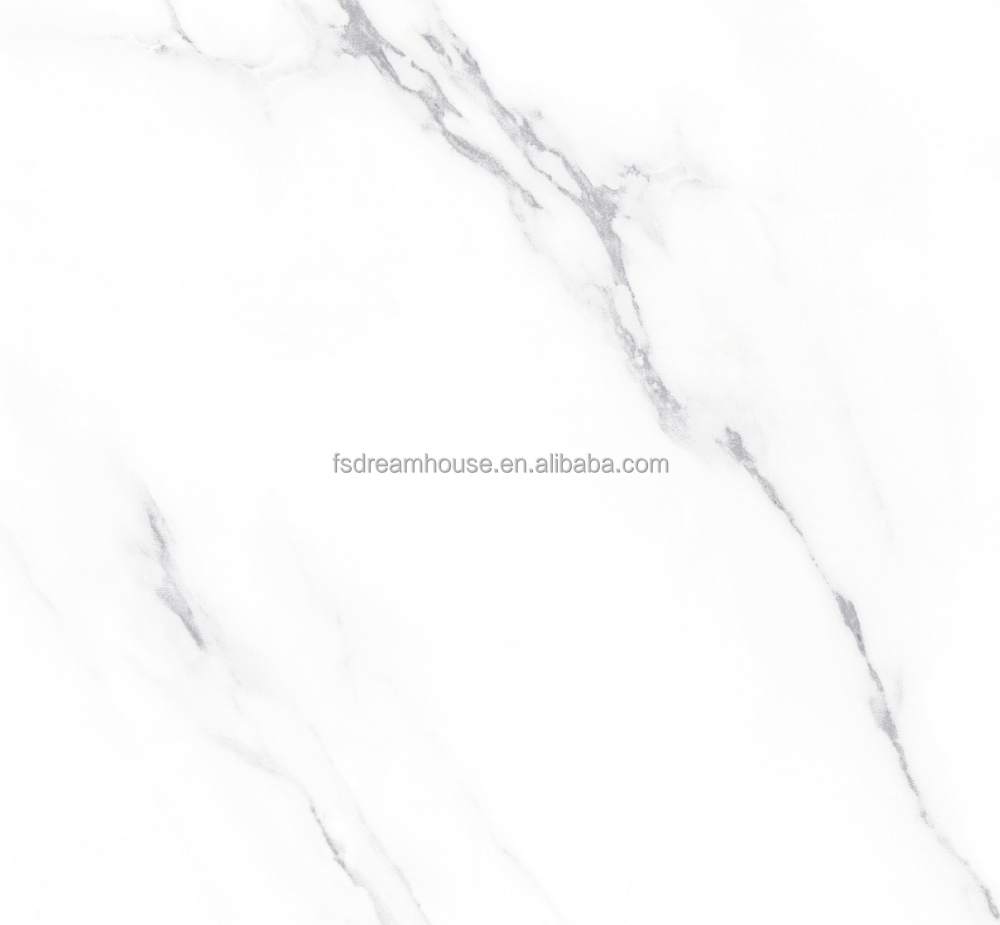 600x600mm Style selections full glazed porcelain tile italian white carrara marble tiles