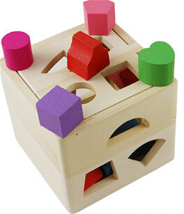 Classic kids learning matching games wooden baby shape sorter toy