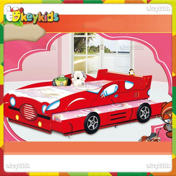 2016 Wholesale Children Wooden Bunk Bed,car Design Kids Wooden Bunk Bed,funny  Baby