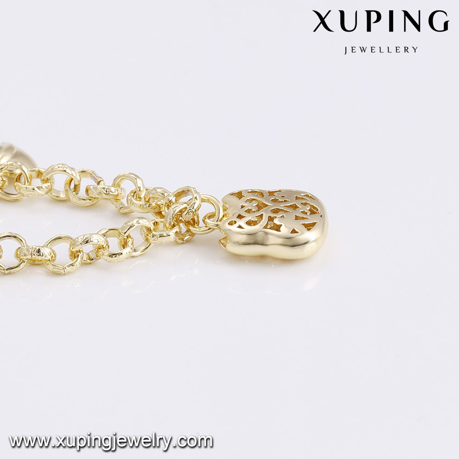 74808 Xuping charm anklets for women, women artificial jewelry