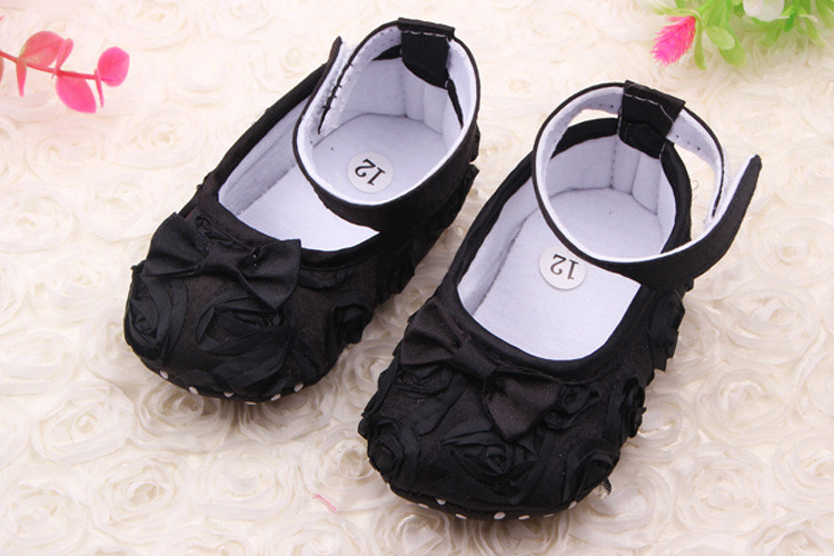 f1e0329f292d2 Bestselling Black Rose Cute Bow Wholesale Toddler Shoes Newborn Baby Shoe -  Buy Baby Shoe,Newborn Baby Shoe,Baby Shoes Black Product on Alibaba.com