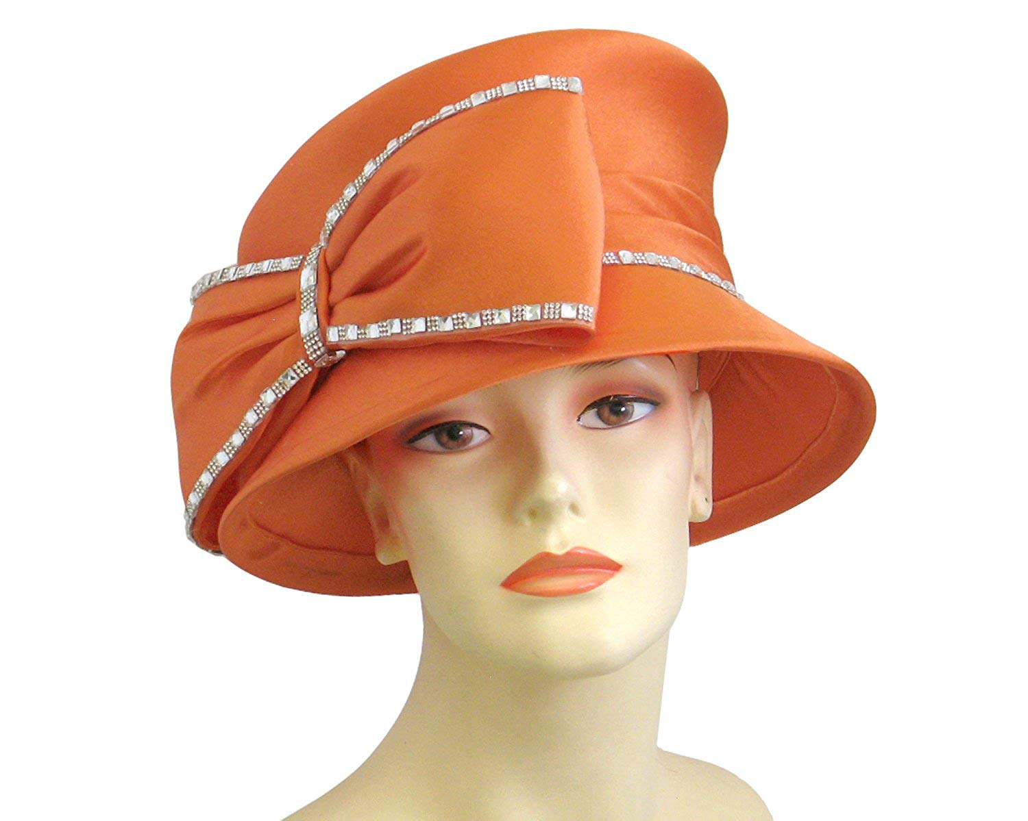 041387d2665 Ms Divine Women s Satin Year Round Church Derby Formal Dress Hats  H849