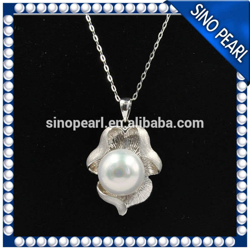 AAA 12-13MM Hot Sale 925 Silver Freshwater Pearl Pendant Designs For Party PP050