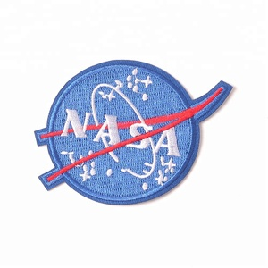 3d custom badge fashion embroidery personalized nasa patch