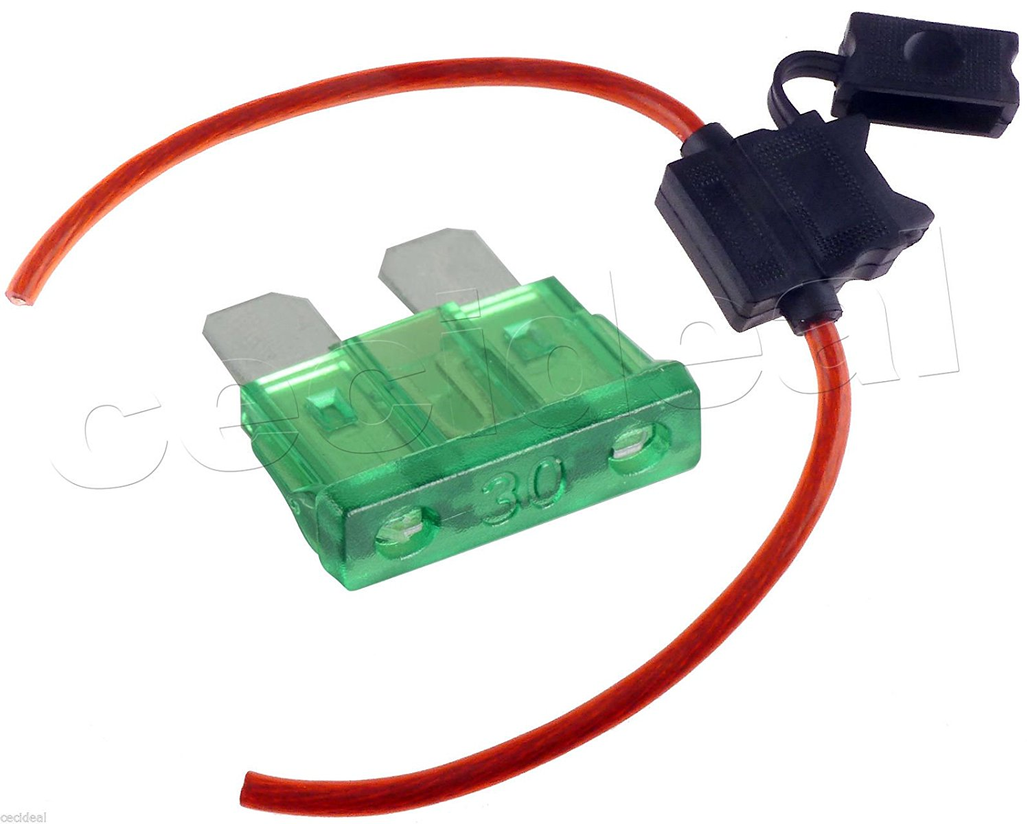 5Pack 10 Gauge In-line ATC Fuse Holder 30 AMP Fuse Cover Car Truck Install 30A
