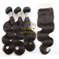 Best remy hair 100% virgin unprocessed hair brazilian frontal lace closure with bundles