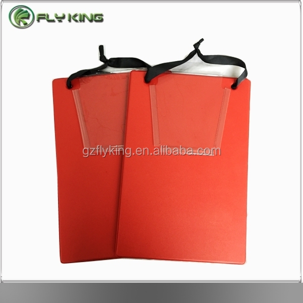 Custom Color Flexible PP Plastic Clipboard With Metal Clip/PVC clipboard