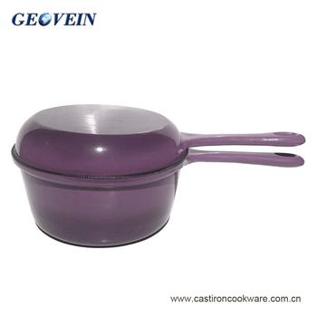 Geovein Multi Function China Colourful Enamel Cast Iron Sauce Pot