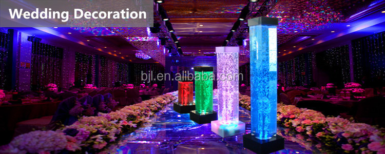 Color Changing Led Acrylic Water Bubble Tubefloor Standing