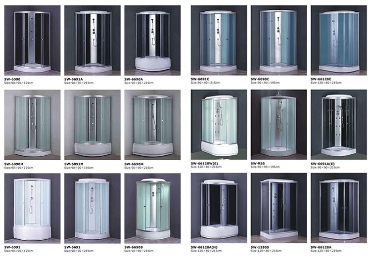 Massage fonction spéciale cabine de douche, chambre boîte panneau cabine de douche prix, cabine de douche
