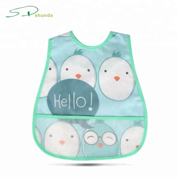 Amazon Best Selling Baby Products Foldable Peva Material Cute Waterproof  Infant Baby Bib 5984c97f222e