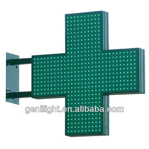 High Quality waterproof outdoor LED Cross pharmacy sign