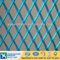 Anping factory Top Sale PVC Coated Galvanized Diamond Wire Mesh Raised Expanded Metal
