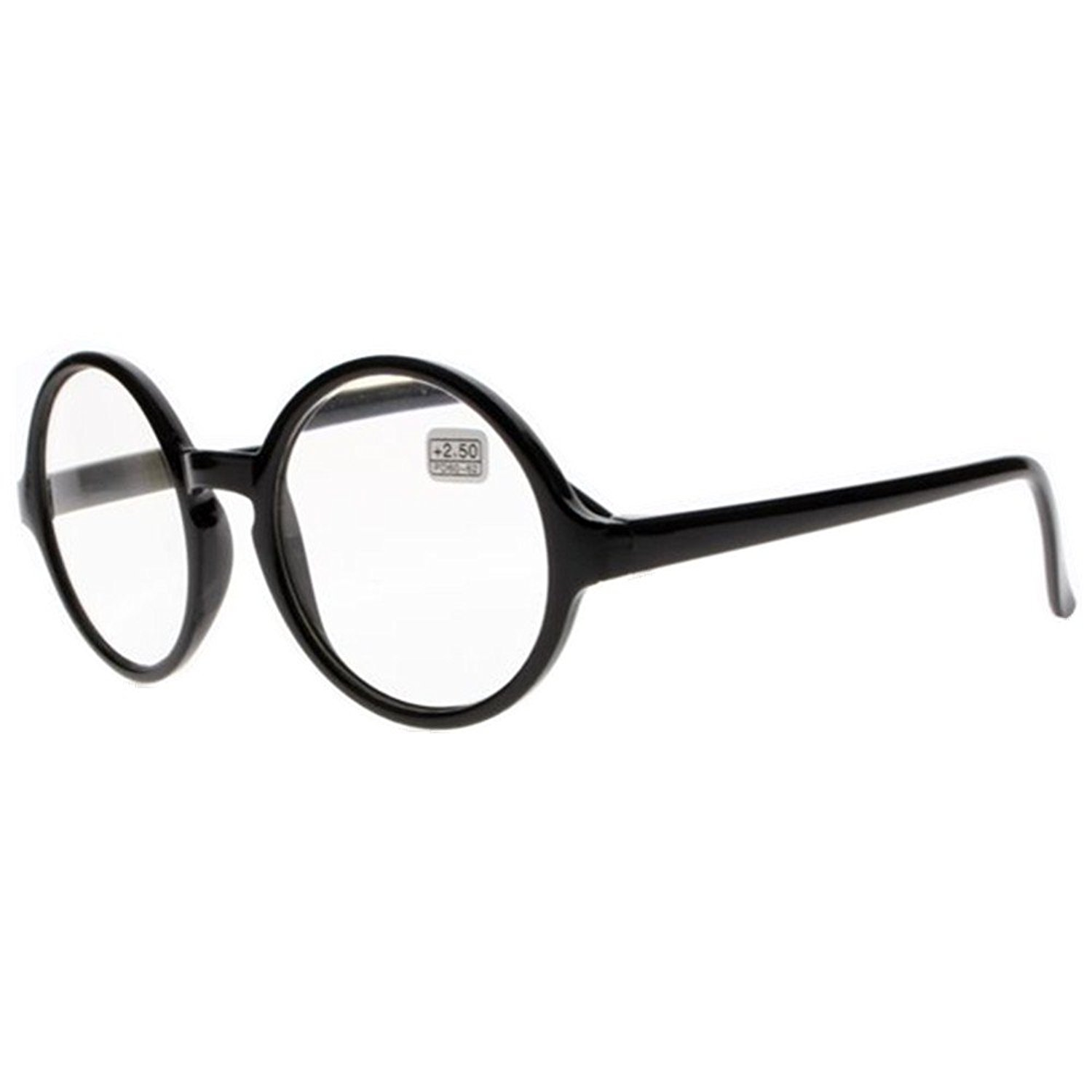 2ae6e32b38 Get Quotations · Men and Women Reading glasses Black Oversized Round  Readers Presbyopia