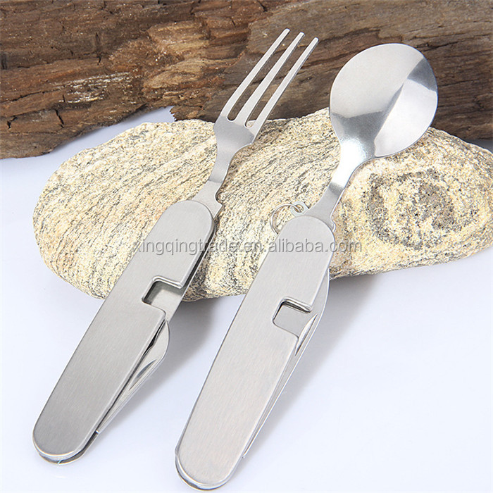Outdoor Multifunctional Folding tableware Camping tableware