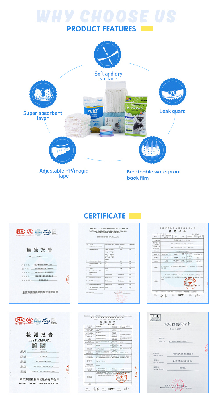 Hot selling high quality elastic disposable high absorption leak guard adult diaper