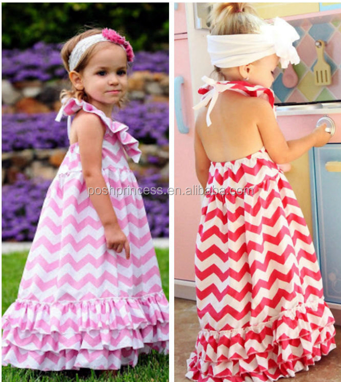 Cotton Chevron Baby Girl Maxi Dress,Long Maxi Dresses For Kids ...