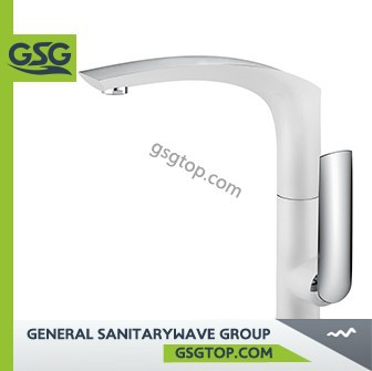 GSG FA113 white kitchen faucet high quality mixer tap with flexible hoses