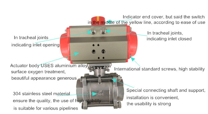 China Manufactory Pneumatic Air Actuated Ball Valves With At ...