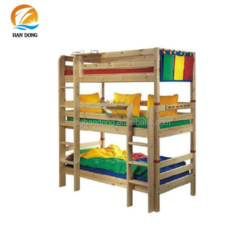 Rustic Tall Wood Three Floor Beds 3 In 1 Bunk Beds Buy Wood Three