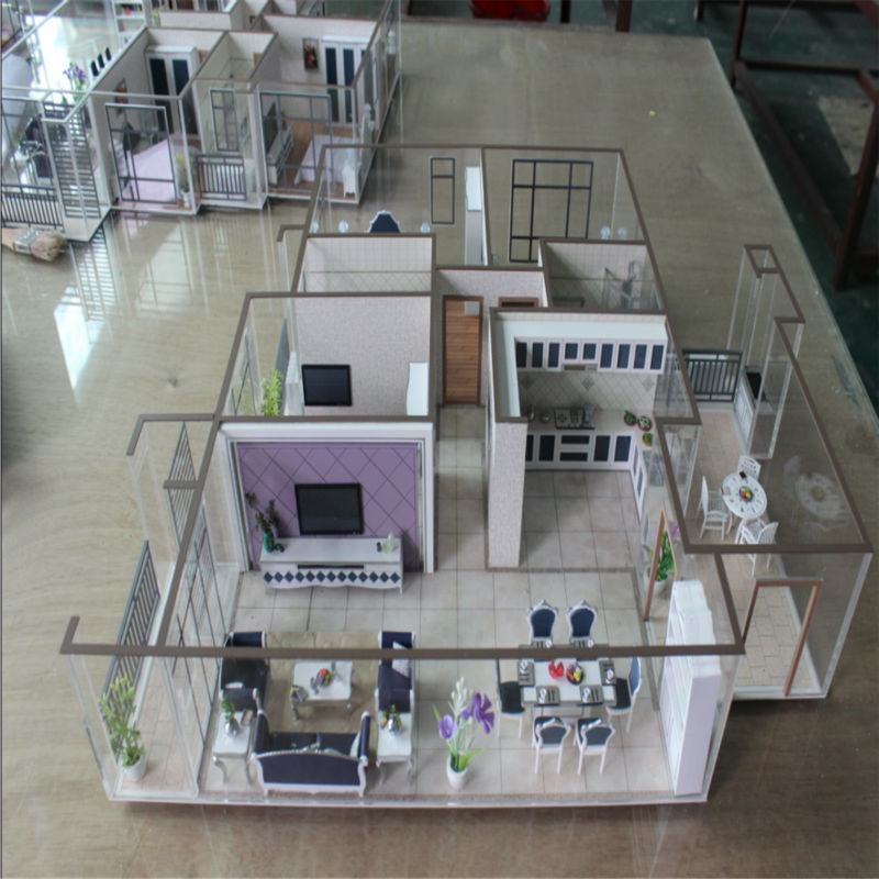 Acrylic abs architecture materials interior layout house Scale model furniture