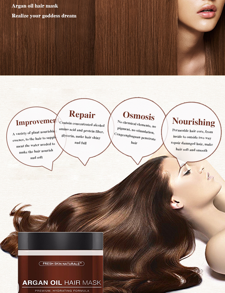 Conditioner nourishes the roots of the head and improves frizzy and split ends of the hair. Chinese cosmetics manufacturer