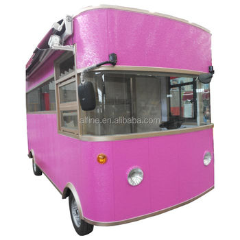 stainless steel food bus ice cream food carts