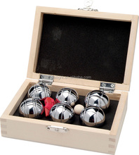 Groothandel Metalen Petanque <span class=keywords><strong>boules</strong></span> set Bocce Game Set van 8 <span class=keywords><strong>Bal</strong></span> Metalen Mini bocce <span class=keywords><strong>bal</strong></span> in Houten geval verpakking
