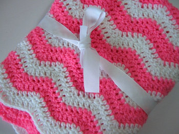 Lovely Baby Blanket With Beautiful Crochet Baby Blanket Pattern