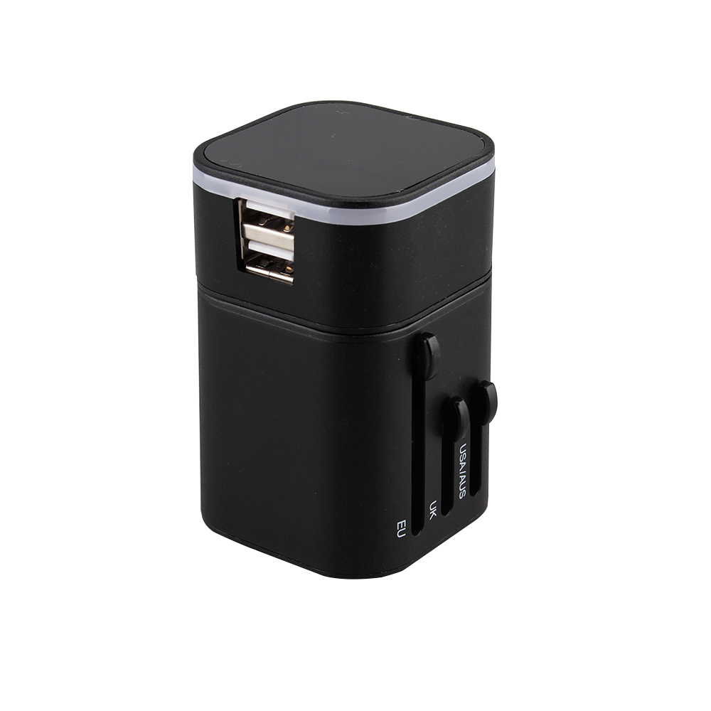 New Universal Travel Adapter Electric Plugs Sockets Converter US/AU/UK/EU with Dual USB Charging