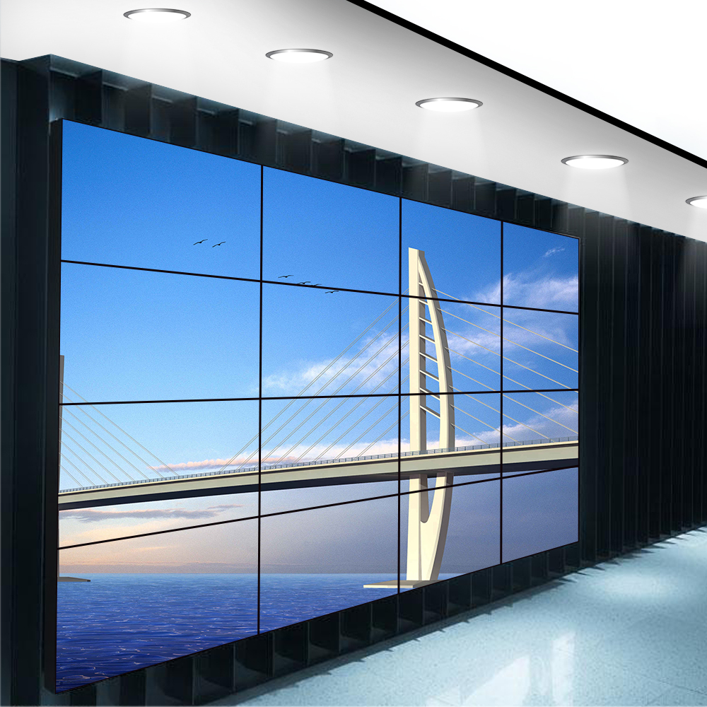 55 inch indoor ultra narrow bezel 4x4 lcd advertising video wall