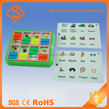 Best sale baby educational toy 3 page learning card games learn english