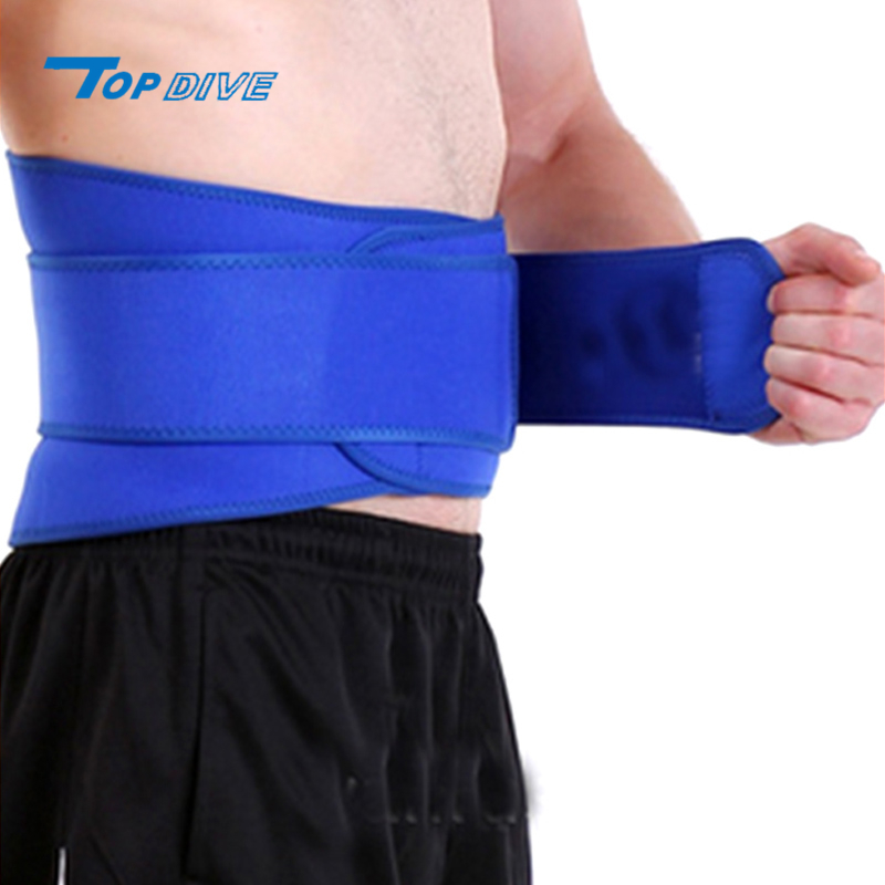 Fully adjustable exerts uniform compression neoprene waist running belt