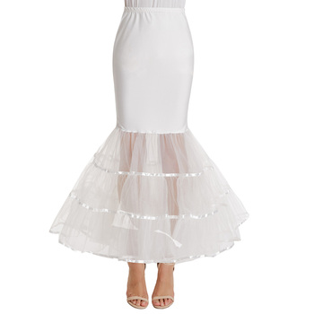 e14abcf16b1e Kate Karin Womens Floor Length Retro Vintage Dress Crinoline Underskirt  Mermaid Ivory Wedding Dress Petticoat CL010477