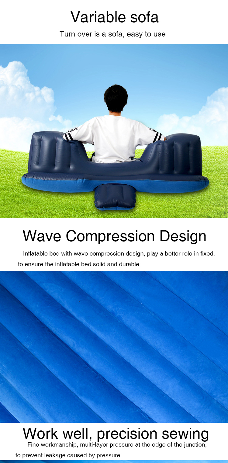 Self inflating sleeping pad camping automatic inflatable air sleeping mattress with pillow car air bed mattress with best