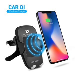 FLOVEME 5V/2A Qi Wireless Charger 360 Degree Rotation Car Phone Holder Charger for Samsung Galaxy S8 NOTE 8 for iPhone X 8 Plus